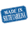 made in South Carolina blue square grunge stamp vector image vector image