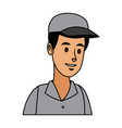 man in uniform of delivery worker character vector image