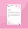 modern letterhead with subtle pink gradient and vector image