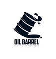 oil fuel barrel oil drop simple flat icon vector image vector image