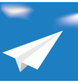 origami white airplane vector image vector image