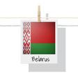 photo of belarus flag vector image