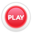 Play Button Isolated on White vector image vector image