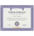 Qualification Certificate Template vector image