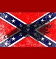 rebel civil war flag with north carolina map vector image vector image