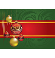 Red and Gold Christmas Balls vector image