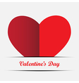 red heart on a white background vector image vector image
