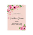 save the date pink floral pink background i vector image