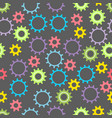 seamless baby texture with colored gears vector image
