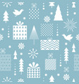 seamless christmas patternone color vector image vector image