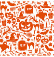 seamless pattern of halloween icons vector image vector image