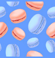seamless pattern with colorful macaroon cookies on vector image