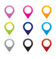 Set map pointer icon marker GPS location flag vector image