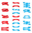 set of red and blue ribbons vector image