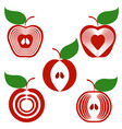 set of simple apples vector image vector image
