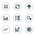 set of simple diagram icons