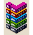 Simple 3d number options banners vector image vector image