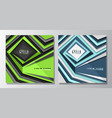 square futuristic covers vector image
