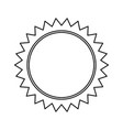 sun sunlight summer climate symbol outline vector image