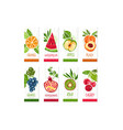 vertical cards or banners set of fresh fruits vector image