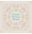 Vintage ornament border frame decoration vector image vector image
