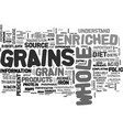 whole versus enriched grains what s the vector image vector image