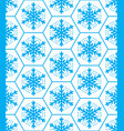 winter pattern snowflakes seamless design xmas s vector image
