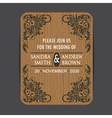 wooden wedding invitation vector image vector image