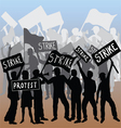Workers strike and protest vector image vector image