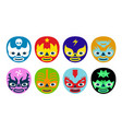 wrestlers masks vector image