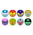 wrestlers masks vector image vector image