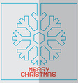 Christmas Retro With Snowflake vector image