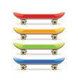 skateboard set isolated vector image