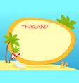 thailand touristic concept with copyspace vector image