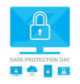 data privacy day 26 january icons collection vector image