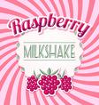 Raspberry milkshake vector image