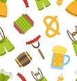 Seamless Pattern with Oktoberfest Symbols vector image