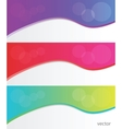 Collection banners modern wave design vector image