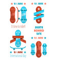 21 june skate board life it time to ride banner vector image