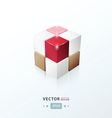 3D Cube love valentine style vector image vector image