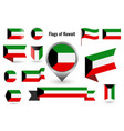 a large set icons and signs with flag of vector image vector image