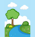 a simple nature background vector image vector image