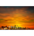 abstract brown sunset background with panorama of vector image vector image