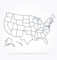 accurate correct usa map linework vector image