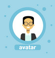 asian man avatar businessman profile icon element vector image vector image