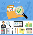 auditing business accounting concept vector image vector image