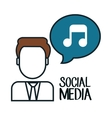 avatar music social media design isolated vector image