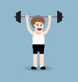 barbell shoulder press exercise vector image vector image