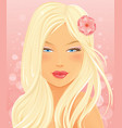 Beautiful Blond Woman Portrait vector image vector image
