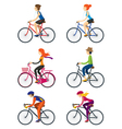 Bicycle Riders Man Woman People vector image